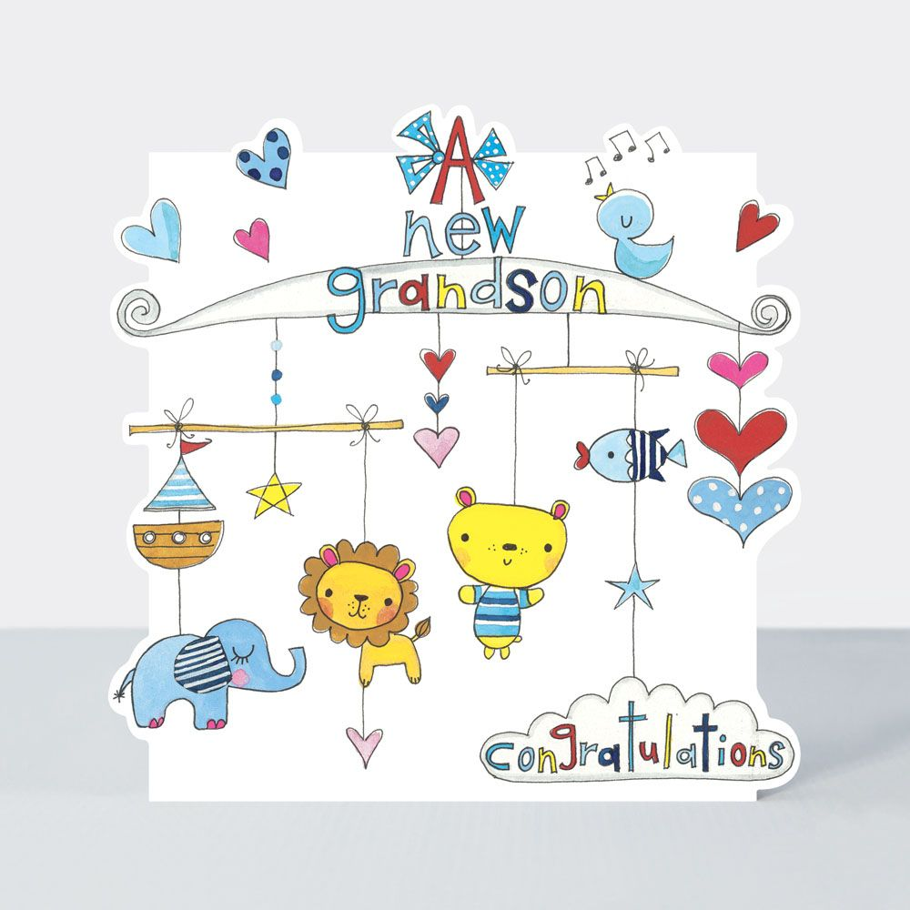 New Grandson Cards - A New GRANDSON - CONGRATULATIONS - New BABY Grandson C