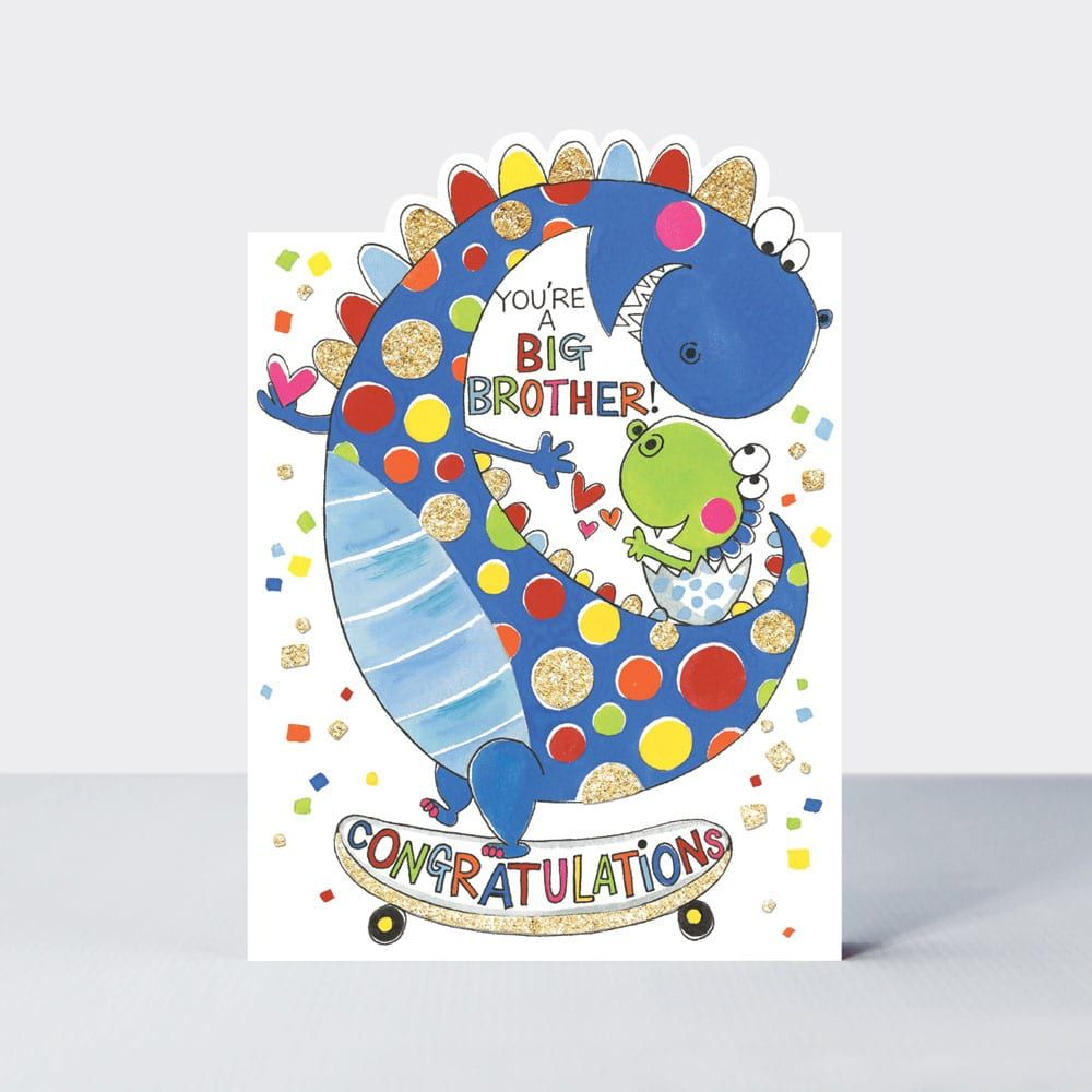 New Big Brother Cards & BROTHER to BE - YOU'RE A BIG Brother - DINOSAURS -
