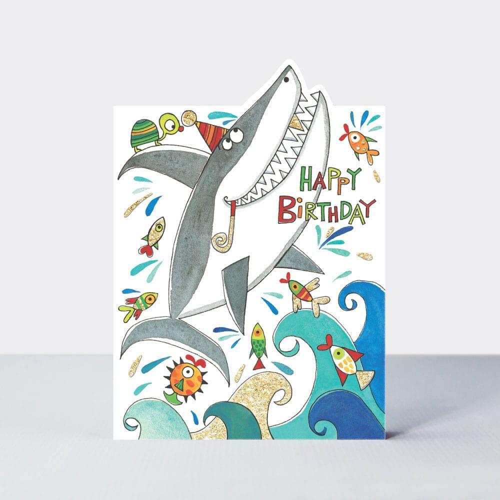 Cards For Boys - KIDS Birthday CARDS - Shark Birthday Card - HAPPY Birthday