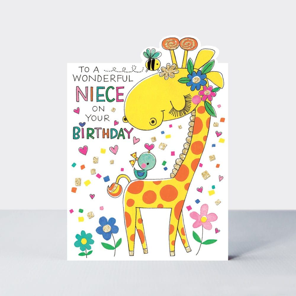Birthday Cards For Niece - To A WONDERFUL Niece - NIECE Birthday CARDS - Cu
