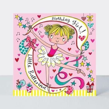 Ballet Dancer Ballerina Birthday Cards - Ballerina JIGSAW CARD - BALLET Birthday CARDS - BALLET Card FOR Daughter - Granddaughter - SISTER - Niece