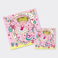Ballet Dancer Ballerina Birthday Cards - Ballerina JIGSAW CARD - BALLET Birthday CARDS - BALLET Card FOR Daughter - Granddaughter - SISTER - Niece