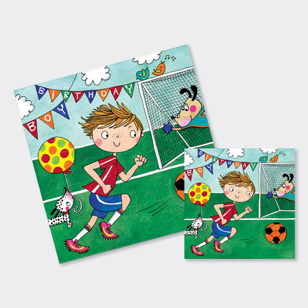 Wondrous Football Cards Football Jigsaw Cards Kids Birthday Cards Funny Birthday Cards Online Fluifree Goldxyz