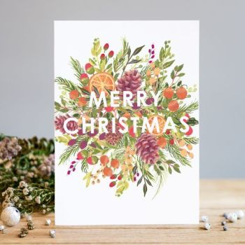 Christmas Cards - Merry CHRISTMAS - Merry CHRISTMAS Wishes - FLORAL Christmas CARD - PRETTY Christmas CARD For Gran - AUNTY - Friends - NEIGHBOURS