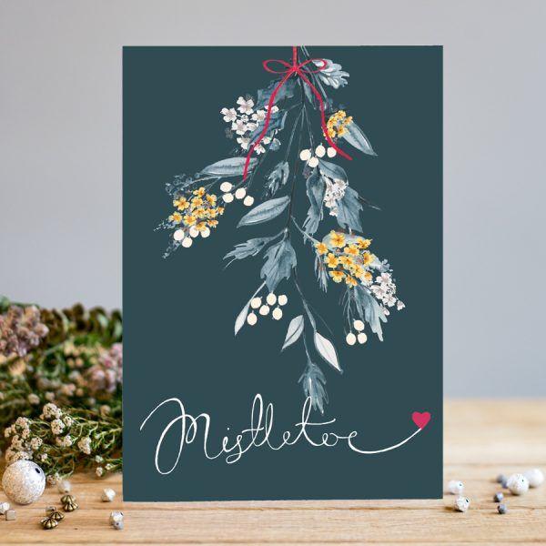 Mistletoe Card - Mistletoe CHRISTMAS Card - Romantic CHRISTMAS Cards - Chri