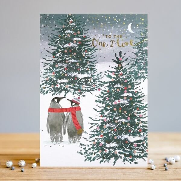 To The One I Love Christmas Cards - LOVE Christmas CARDS - Penguin CHRISTMA