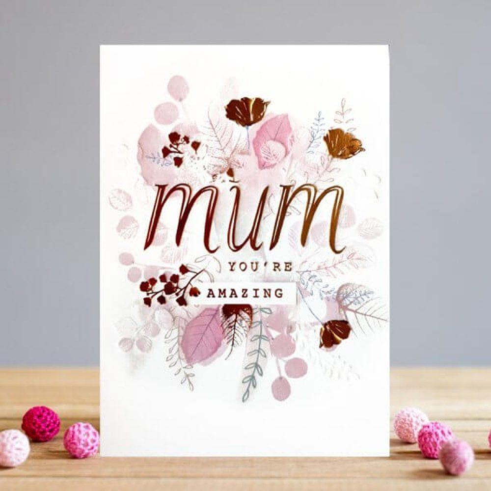 Mum Birthday Cards - MUM You're AMAZING - Mum Birthday - Birthday CARD For
