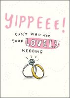 RSVP Acceptance Card - WEDDING Acceptance - YIPPEEE Can't WAIT - Wedding ACCEPTANCE Card - Funny WEDDING Acceptance CARD - RSVP Cards For WEDDINGS