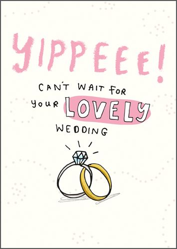RSVP Acceptance Card - WEDDING Acceptance - YIPPEEE Can't WAIT - Wedding AC