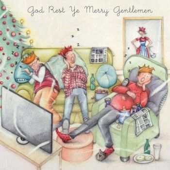 Christmas Cards For Him - God REST Ye MERRY Gentlemen - FUNNY Christmas CARDS - Christmas CARD Men - Christmas CARD For DAD - Uncle - Brother - SON
