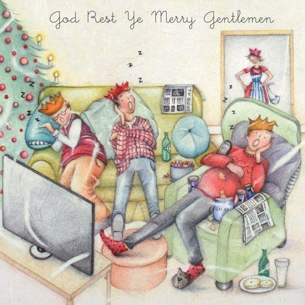 Christmas Cards For Him - God REST Ye MERRY Gentlemen - FUNNY Christmas CAR