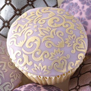 2 Ornate Cake Stencils - DESIGNER Stencils - Stencils For CAKES - LAKELAND Cake STENCIL - Cake Stencils - REUSABLE Stencil