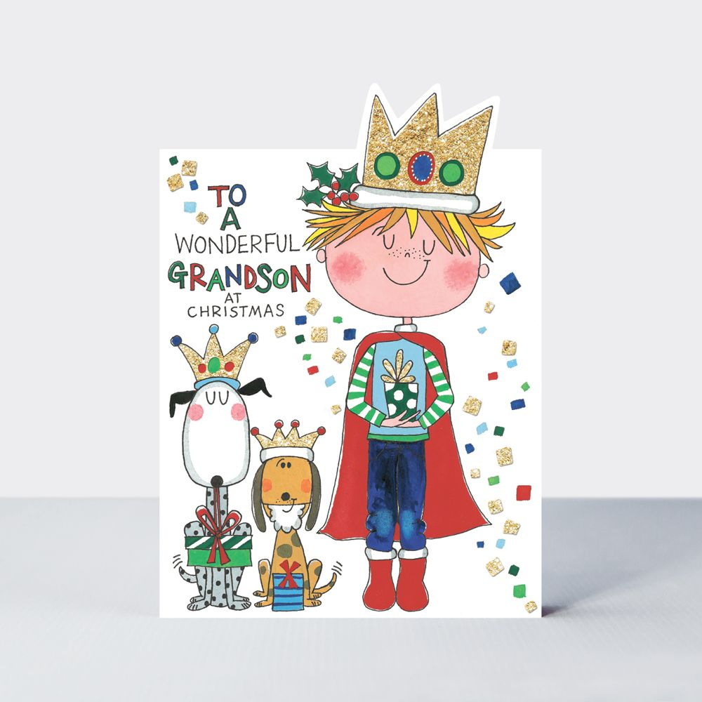 Grandson Christmas Cards - CHRISTMAS Cards FOR Kids - WONDERFUL Grandson At