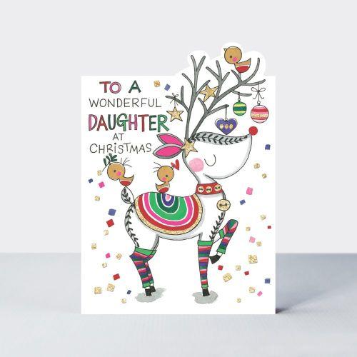 Reindeer Christmas Cards.Daughter Christmas Cards To A Wonderful Daughter At Christmas Reindeer Christmas Card Daughter Christmas Card Family Xmas Cards