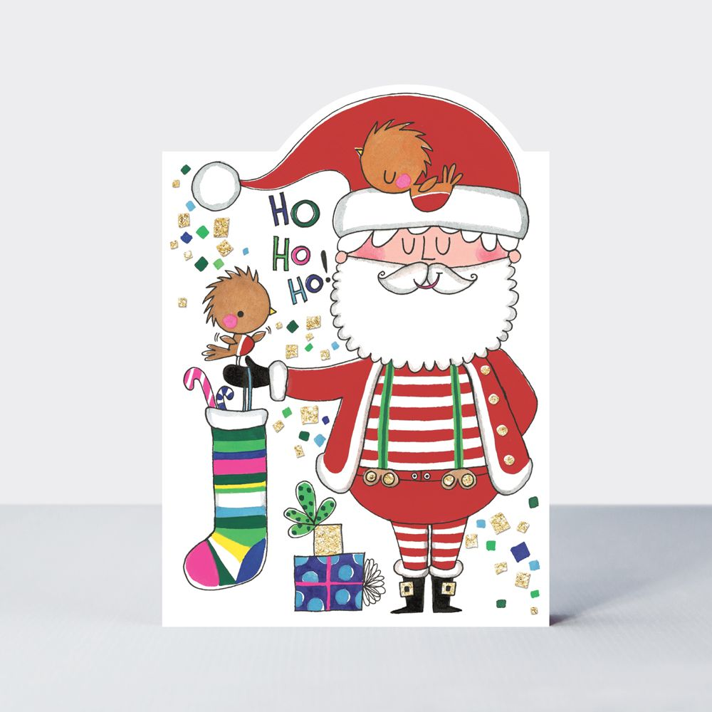 Santa Christmas Cards - HO HO HO - CHRISTMAS Cards - SANTA Claus CHRISTMAS