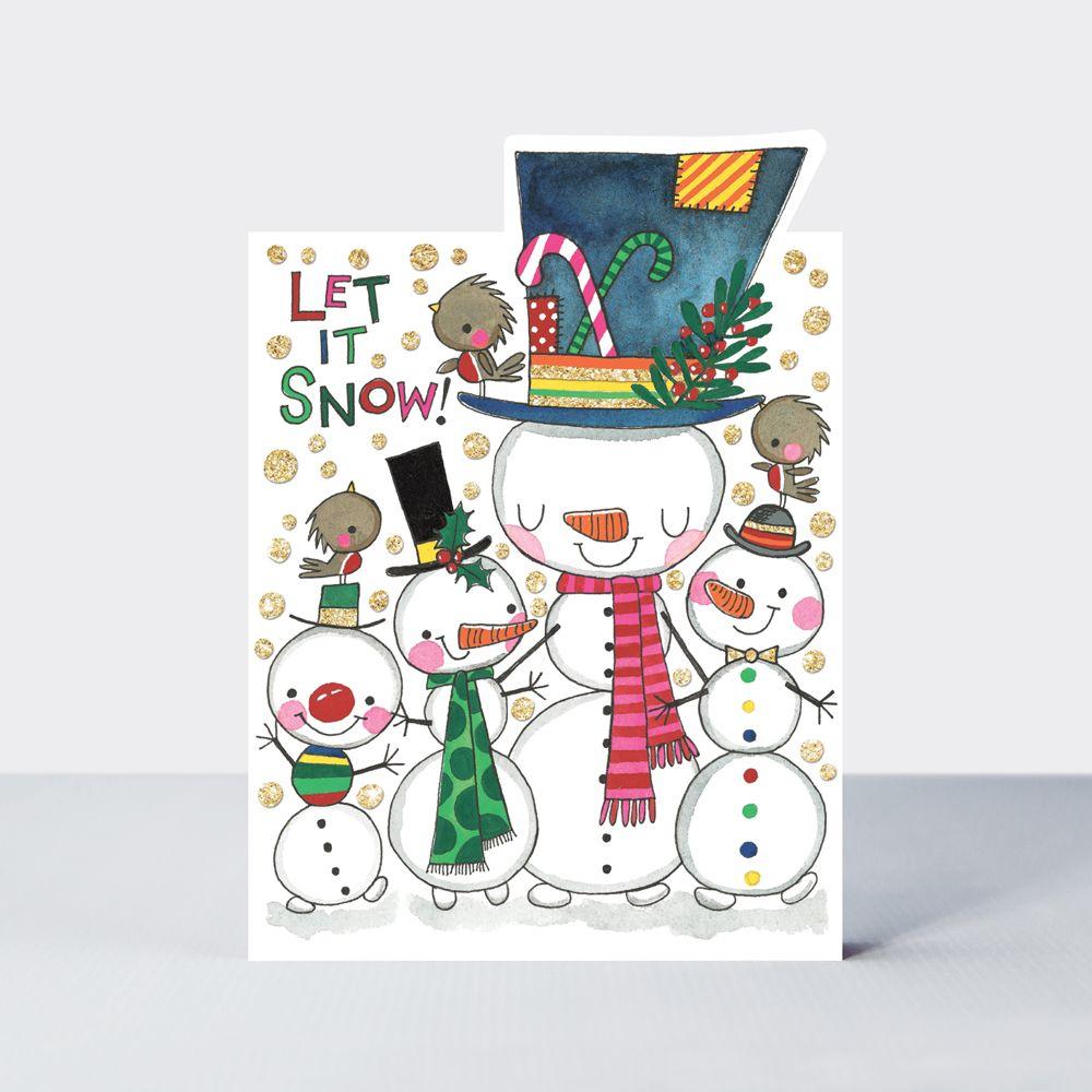 Family Christmas Cards - LET IT SNOW - Christmas CARDS - Snowmen CHRISTMAS