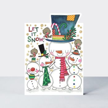 Family Christmas Cards - LET IT SNOW - Christmas CARDS - Snowmen CHRISTMAS Card - FUNNY Christmas Card -  Christmas CARD For FRIENDS - Neighbours