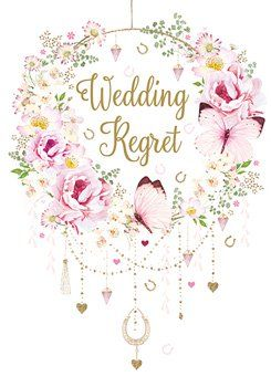 RSVP Wedding Regret Card - PRETTY Pink CARD - RSVP Decline & REGRET Cards -