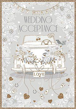 RSVP Acceptance Card - WEDDING Acceptance - Floral WEDDING Card - Wedding ACCEPTANCE Card - Pretty WEDDING Acceptance CARD - RSVP Cards For WEDDINGS