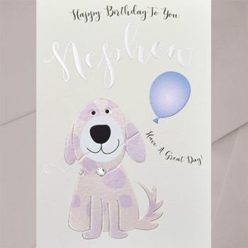 Birthday Cards For Nephew - Have A GREAT Day - Dog BIRTHDAY Cards - NEPHEW Birthday CARDS - Cute DOG Birthday CARD For NEPHEW - Kids Birthday CARDS