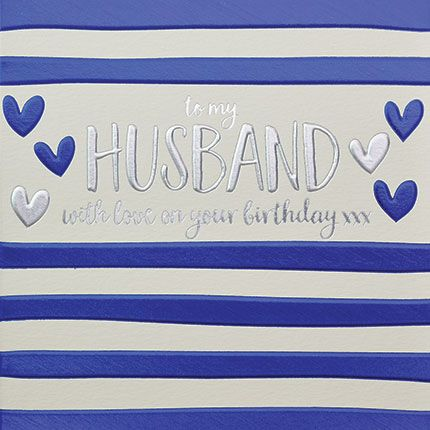 Husband Birthday Cards - To My HUSBAND With LOVE - Birthday CARD For HUSBAN