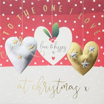 Love Christmas Cards - To The ONE I Love - Christmas CARDS - Love & KISSES - CHRISTMAS Card For GIRLFRIEND - Boyfriend - PARTNER - Wife - HUSBAND