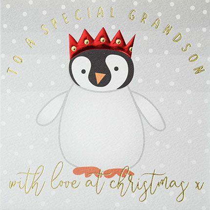 Grandson Christmas Cards - To A SPECIAL Grandson - Grandson CHRISTMAS Card