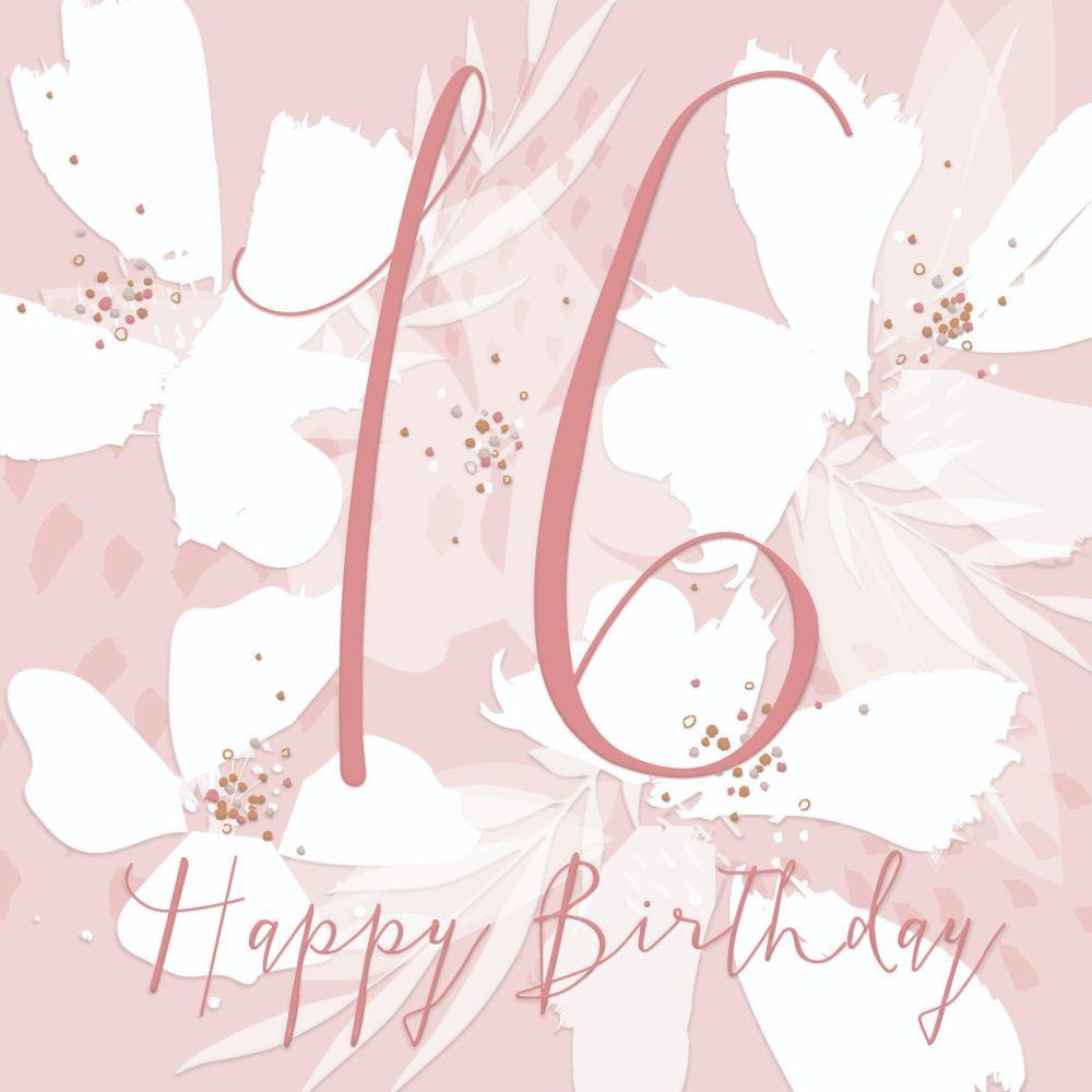 16th Birthday Card Girl- HAPPY Birthday - SWEET 16 Birthday CARD - CARD For