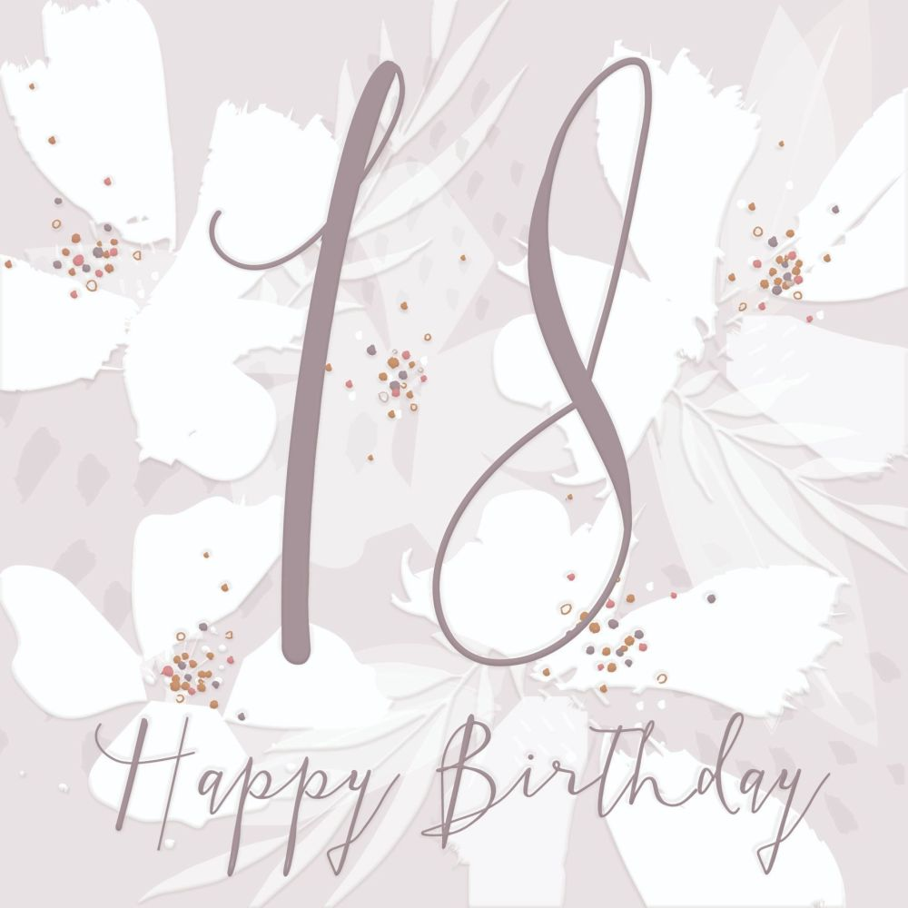 Magnificent 18Th Birthday Card Girl Happy Birthday Pretty 18Th Birthday Funny Birthday Cards Online Fluifree Goldxyz