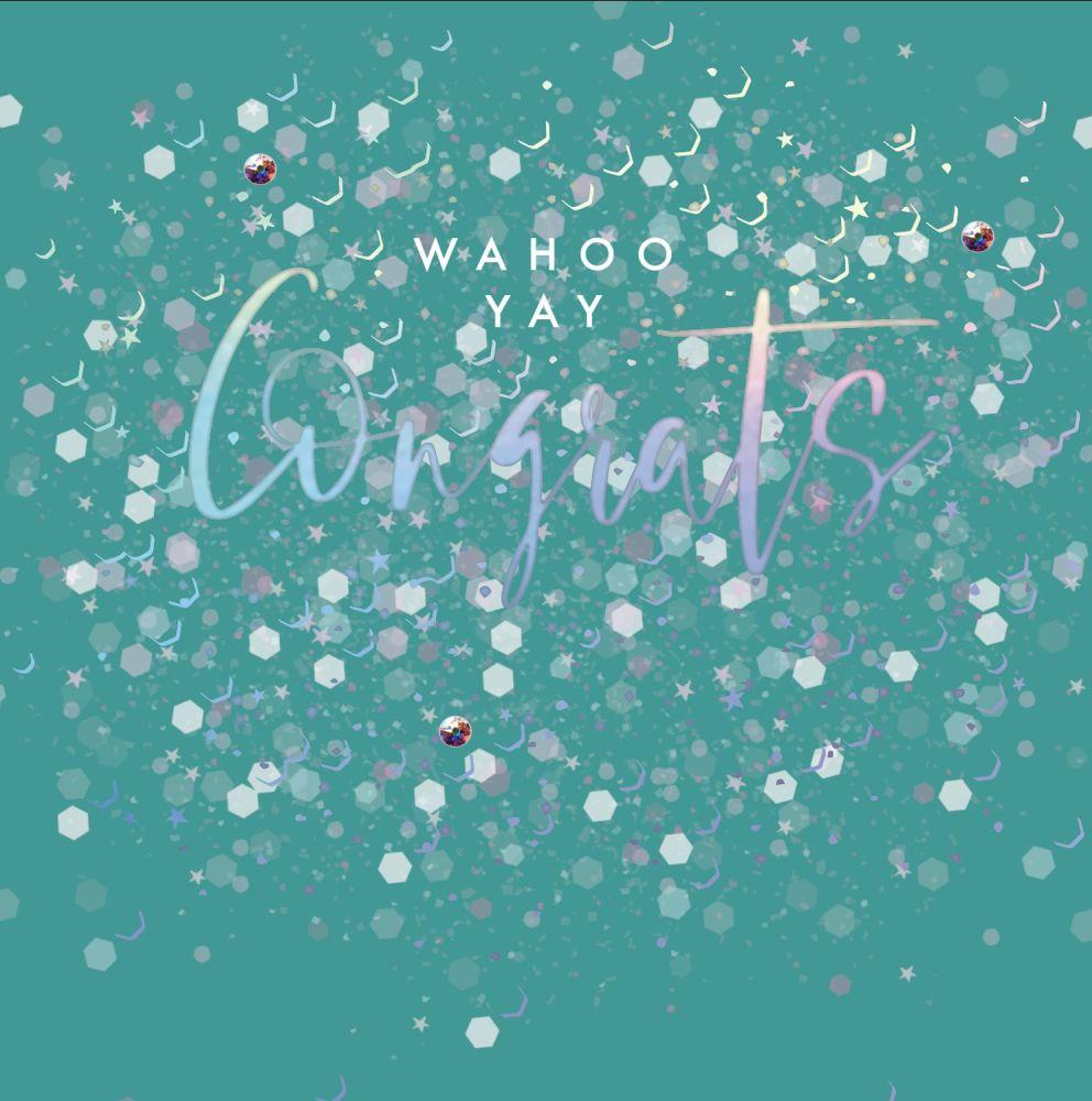 Congratulations Cards - WAHOO YAY Congrats - CONGRATULATIONS Cards FOR SUCC