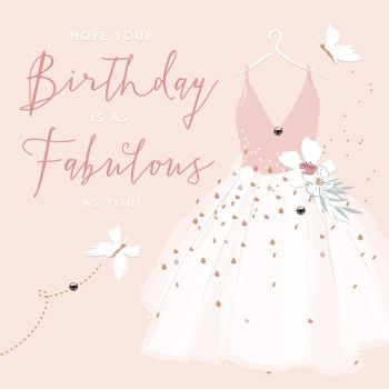 Fabulous Birthday Cards - PRETTY Birthday Cards - As FABULOUS As YOU - Birthday CARD For WIFE - Girlfriend - FRIEND - Daughter - GRANDDAUGHTER