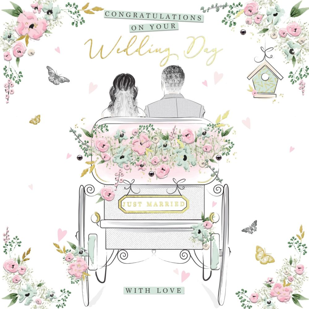 Congratulations Wedding Cards - CONGRATULATIONS On Your WEDDING Day - UNIQU