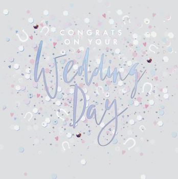 Wedding Cards - CONGRATS On Your WEDDING Day - CONGRATULATIONS Wedding CARDS - EMBELLISHED Card - SPARKLY Wedding DAY Card - Card FOR Wedding