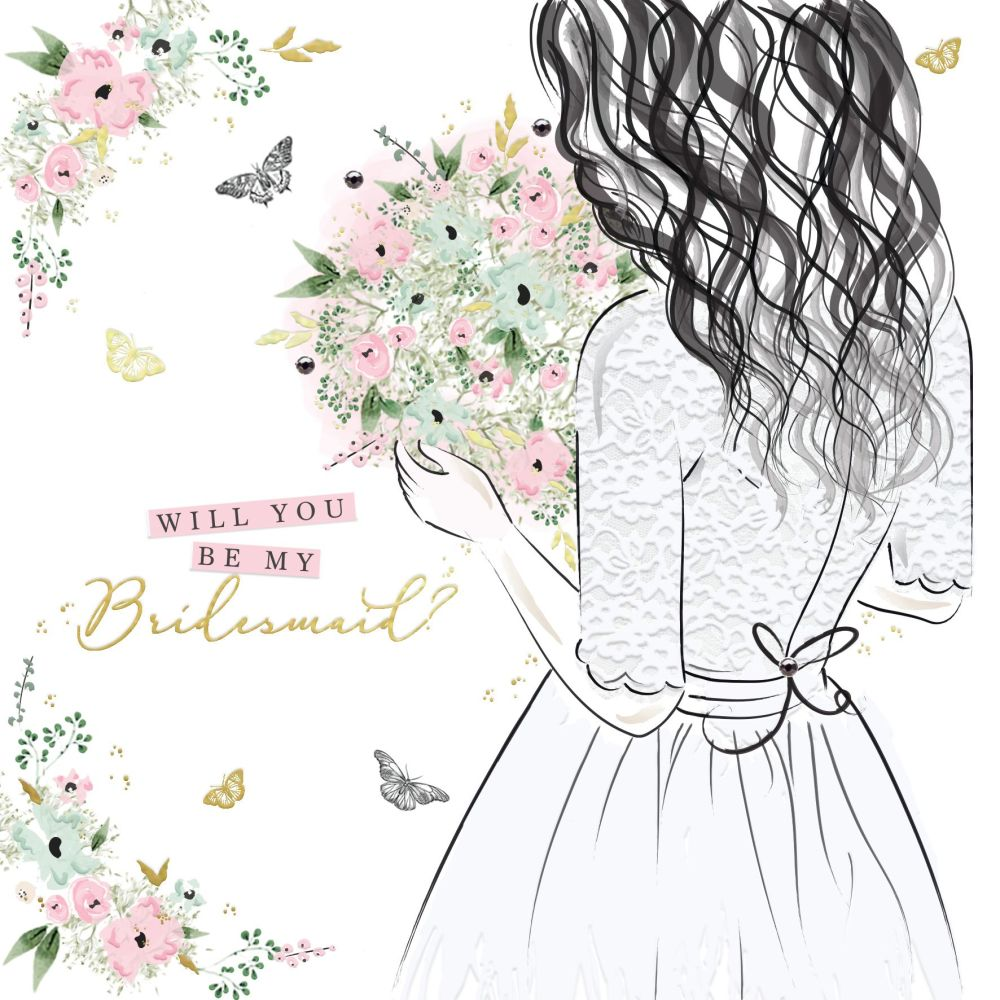 Bridesmaid Cards - WILL You Be My BRIDESMAID - Beautiful WILL You Be My BRI