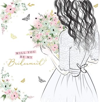 Bridesmaid Cards - WILL You Be My BRIDESMAID - Beautiful WILL You Be My BRIDESMAID Card - Floral BRIDESMAID Card - Wedding STATIONERY