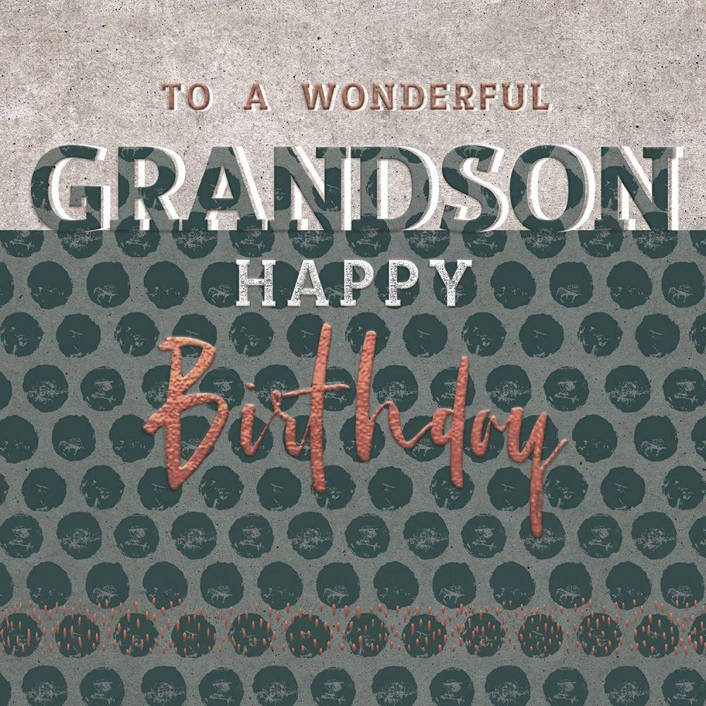 Birthday Cards For Grandson - To A WONDERFUL Grandson - HAPPY Birthday GRAN