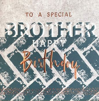 Birthday Cards For Brother - To A SPECIAL Brother - SPECIAL Brother BIRTHDAY Cards - Copper FOILED Birthday CARDS - Birthday CARDS