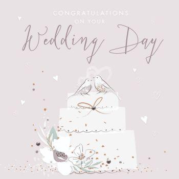 Wedding Cards - CONGRATULATIONS On Your WEDDING Day - CONGRATULATIONS Wedding CARDS - BEAUTIFUL Wedding DAY Card - EMBELLISHED Wedding Cards