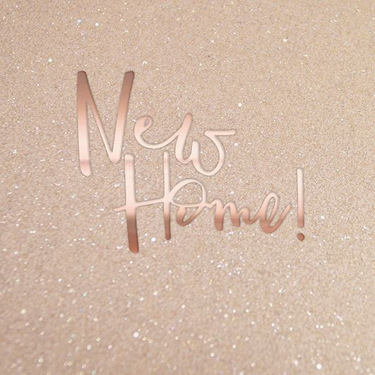 New Home Cards - New HOME - SPARKLY New Home CARD - MOVING Card - HOUSEWARM