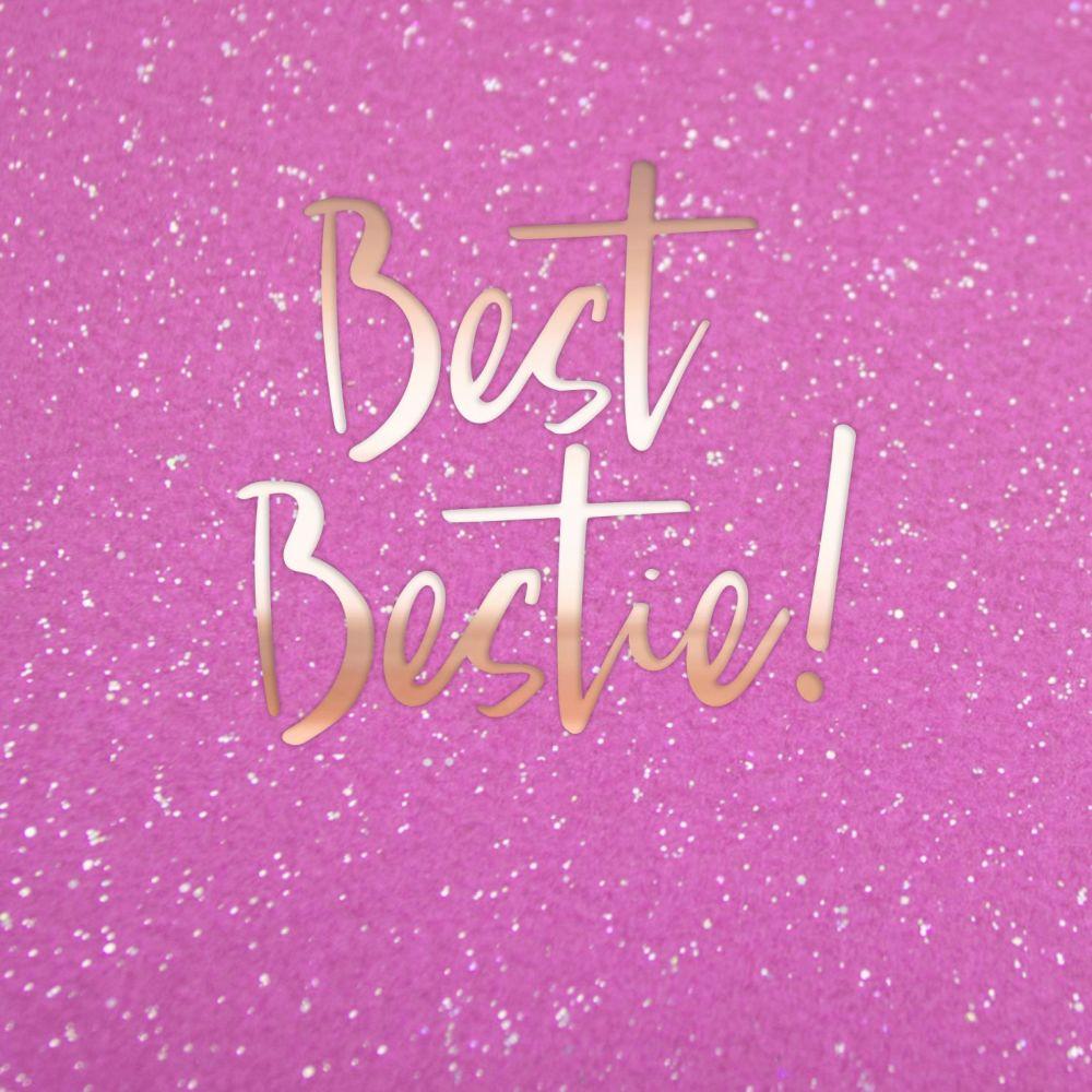 Best Friend Birthday Cards - BEST BESTIE - Bestie BIRTHDAY Card - Girly BIR