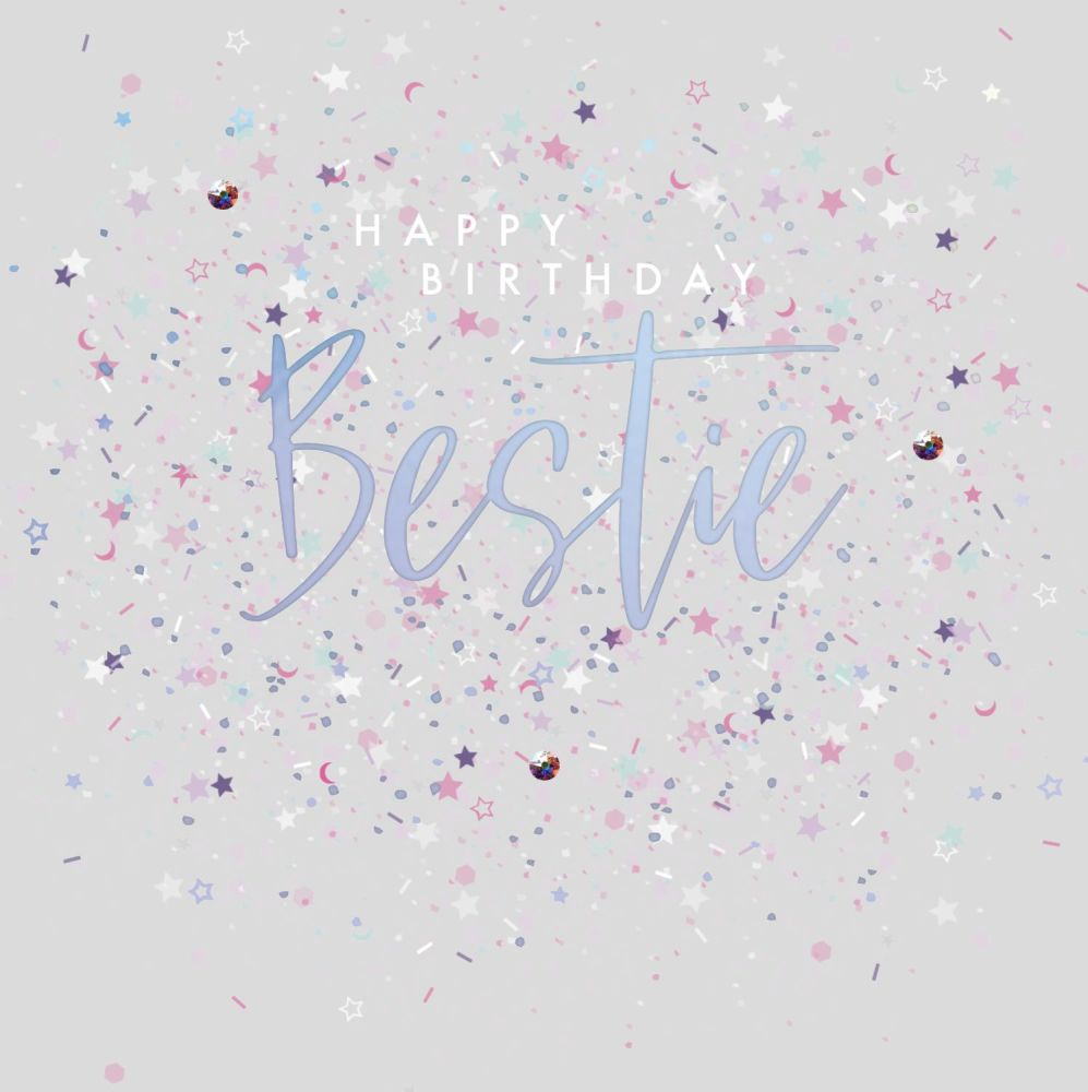 Excellent Best Friend Birthday Card Happy Birthday Bestie Embellished Personalised Birthday Cards Xaembasilily Jamesorg