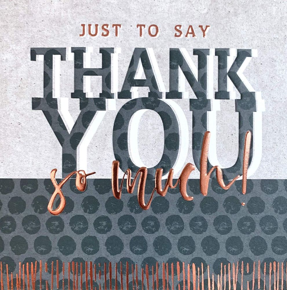 Thank You Card - THANK You SO MUCH - Thank YOU Cards - Thank YOU Card For -