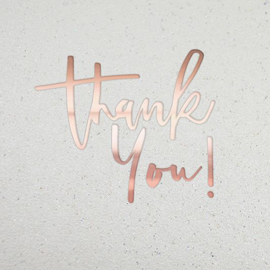 Thank You Cards - THANK YOU - Beautiful THANK YOU Card - Glittery THANK You