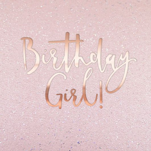 Birthday Cards For Her - BIRTHDAY Girl - Girly BIRTHDAY Cards - SPARKLY Bir