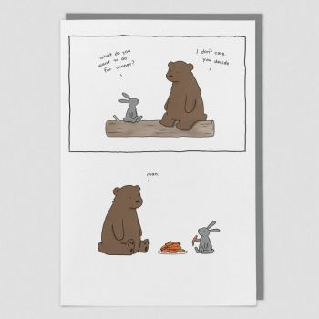 Greeting Card - WHAT Do You WANT For DINNER - Funny Greeting CARD - Birthday CARD - Funny BIRTHDAY Card For BEST Friend