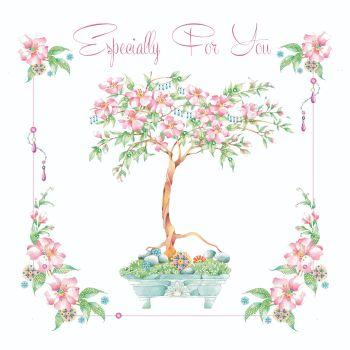 Bonsai Birthday Cards - ESPECIALLY For YOU - Bonsai TREE Birthday CARD - Pretty ORIENTAL Style CARD - Birthday CARD For FRIEND - MUM - Aunty