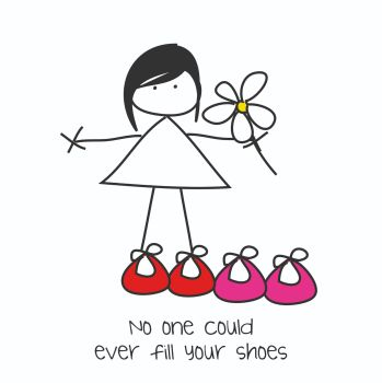 Cute New Job Card - No ONE Could EVER Fill Your SHOES - FRIENDSHIP Card - MOTHERS Day CARD - Leaving CARD - Thoughtful GREETING CARD