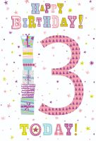 13th Birthday Cards - HAPPY Birthday 13 TODAY - Birthday CARD For TEENAGE Girl - 13th BIRTHDAY Card For DAUGHTER - Niece - COUSIN - Granddaughter