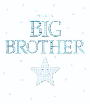 Big Brother Card - You're A BIG BROTHER - Brother TO Be & NEW Big BROTHER Cards - NEW Big BROTHER Baby CARDS - Congratulations