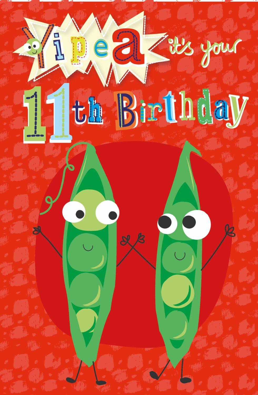 11th Birthday Card - YIPEA It's YOUR Birthday - Funny BIRTHDAY CARD - 11th